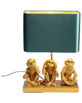Настольная лампа Animal Three Monkey Gold