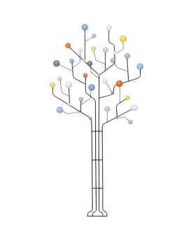 Вешалка для одежды Circuit Tree 84cm