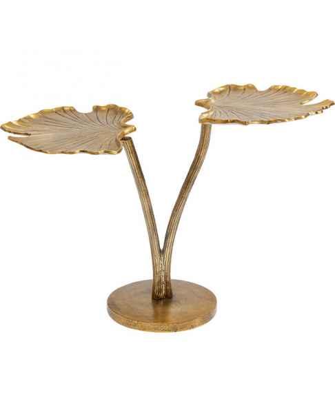 Приставной столик Leaf Brass 57x40cm