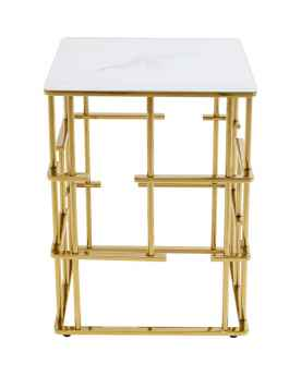 Приставной столик Rome Gold 40x40cm