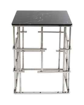 Приставной столик Rome Silver 40x40cm