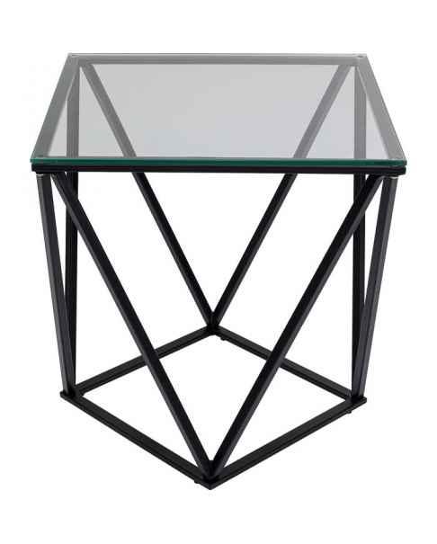 Приставной столик Cristallo Black 50x50cm