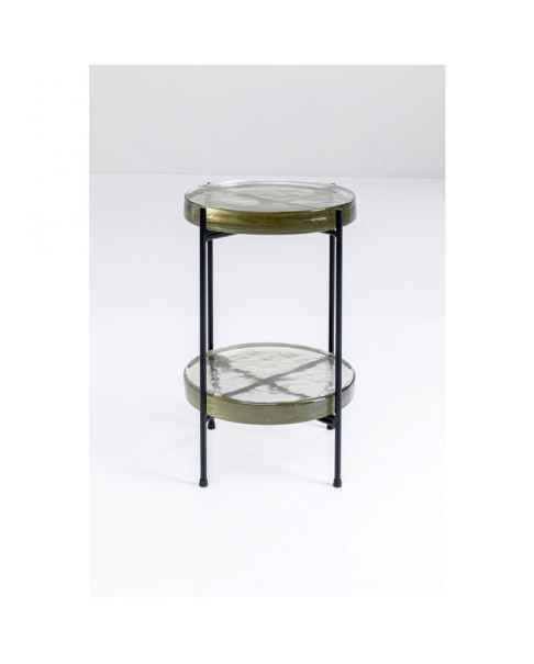 Приставной столик Ice Double Black Ø30cm