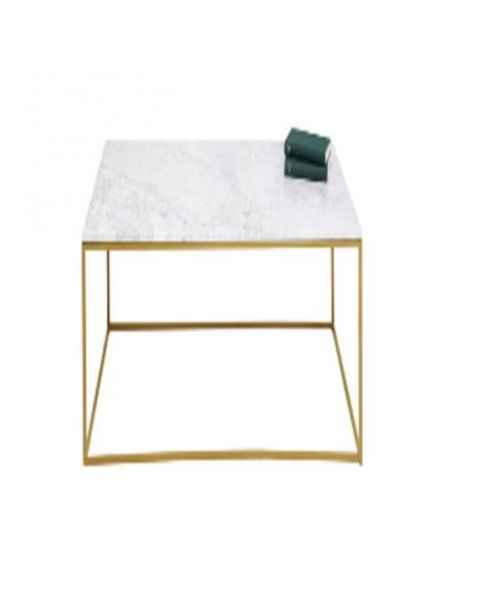 Приставной столик Key West Marble Gold 40x40cm