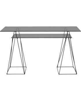Письменный стол Polar Black 8mm tempered glass 135x65cm