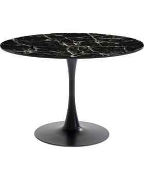 Стол Schickeria Marbleprint Black Ø110cm