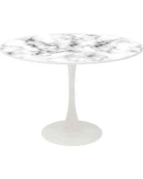 Стол Schickeria Marbleprint White Ø110cm