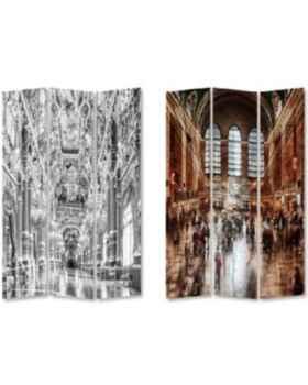 Ширма Triptychon Versailles vs Central Station 120x180cm