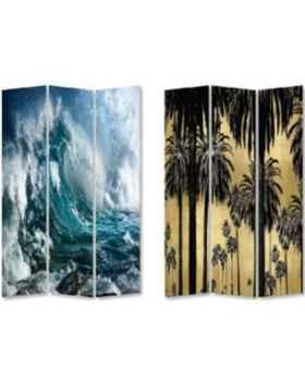 Ширма Triptychon Wave vs Palms 120x180cm
