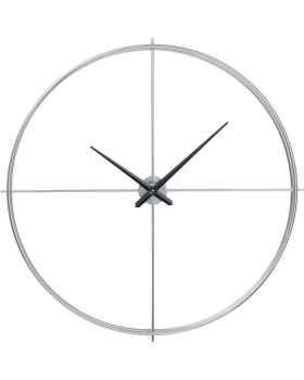 Настенные часы Simple Pure Silver Ø95cm