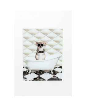 Картина на стекле Dog Shower 60x80cm