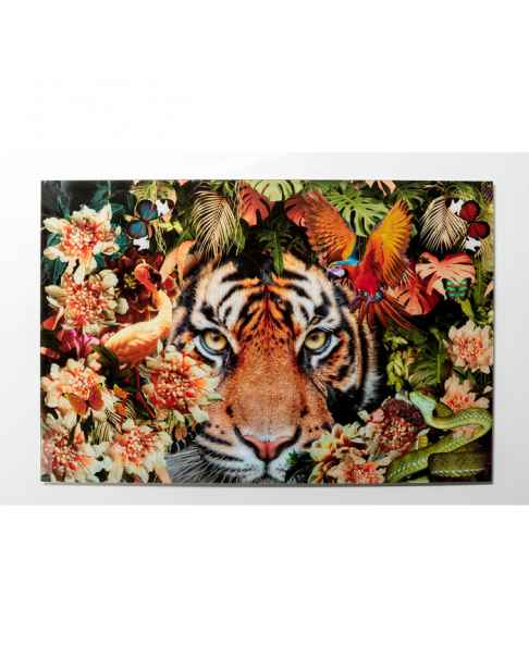 Картина на стекле Tiger on Hunt 150x100cm