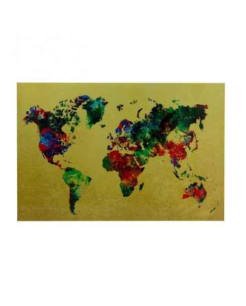 Картина на стекле Metallic Colourful Map 150x100cm