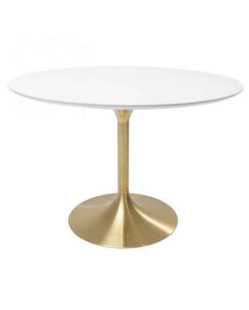 Стол Invitation Set White Brass Ø120cm
