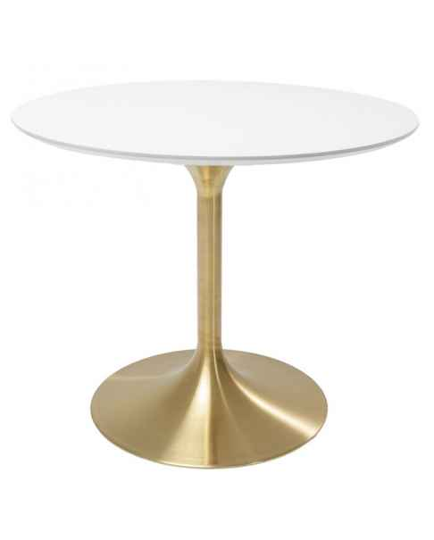 Стол Invitation Set White Brass Ø90cm