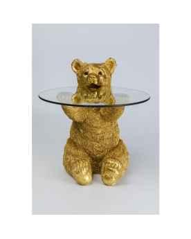 Приставной столик Animal Bear Gold Ø40cm