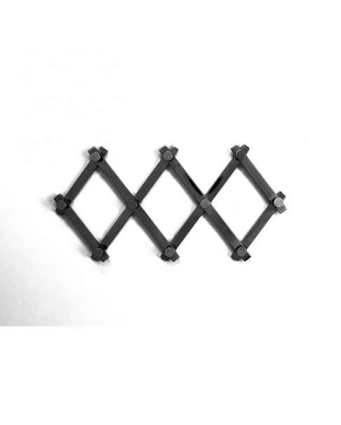 Вешалка для одежды Crossing Matt Black 9(+71)cm