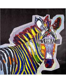 Картина маслом Wildlife Zebra 80x80cm