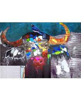Картина маслом Wildlife Buffalo 70x100cm