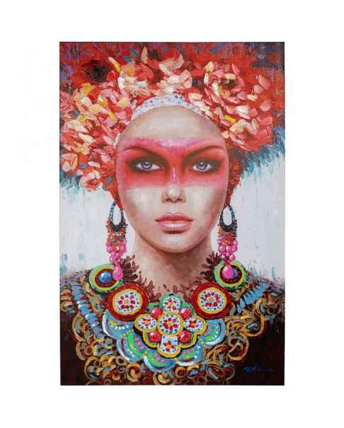 Картина маслом Red Eye Lady 90x140cm