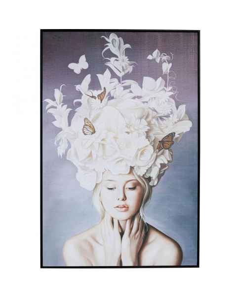 Картина в раме Art Lady White Flowers 120x80cm