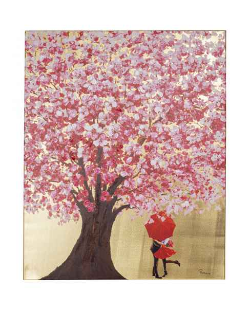 Картина маслом Flower Couple Gold Pink 100x80cm