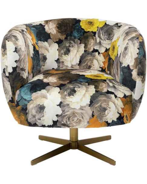 Вращающееся кресло Peony Yellow
