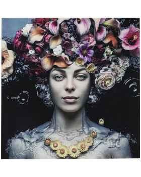 Картина на стекле Flower Art Lady 80x80cm