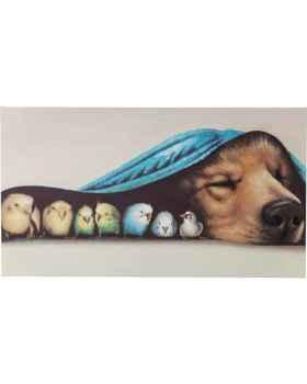 Картина Dog and Birds 75x135cm