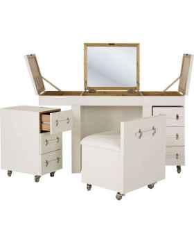 Макияжный столик Combination Diva croco white