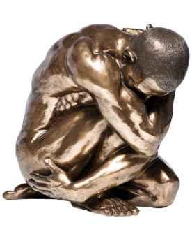 Статуэтка Nude Man Hug Bronze 54cm