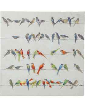 Картина Birds Meeting 100x100cm