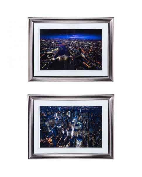 Картина в раме City Nights 92x122cm Assorted
