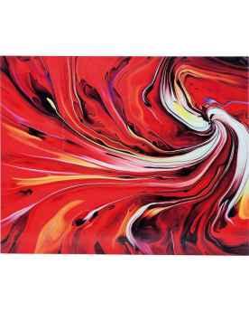 Картина на стекле Chaos Fire 150x120cm