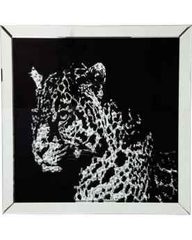 Картина в стеклянной раме Mirror Leopard