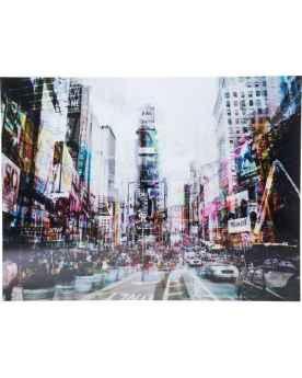 Картина на стекле Times Square Move 120x160cm