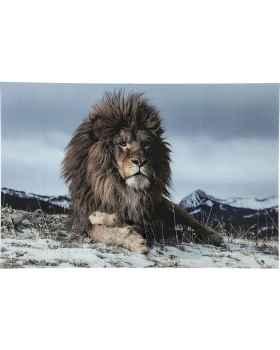 Картина на стекле Proud Lion 120x180cm