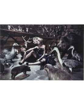Картина на стекле Antler Lady 100x150cm