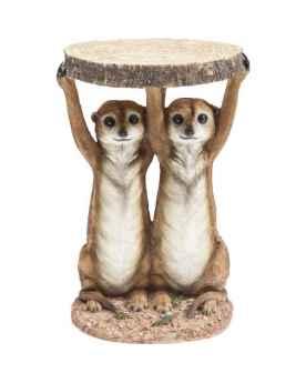 Столик Animal Meerkat Sisters Ø33cm