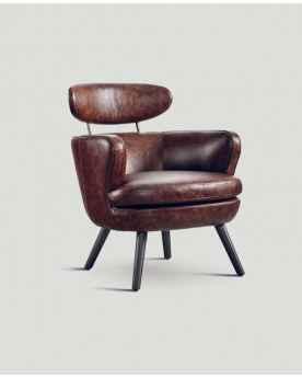 Кожаное кресло Dialma Brown DB004897