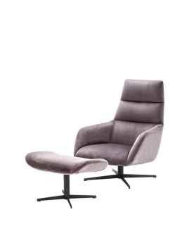 Вращающееся кресло с пуфом Nautilus