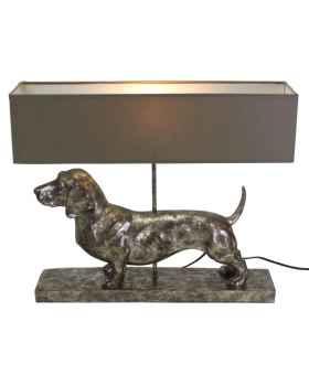 Настольная лампа Frank silver/grey